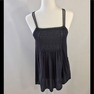 Tops - American Eagle Navy Boho Tank Top Size S